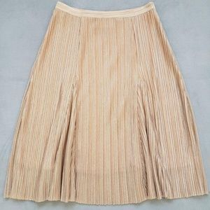 Anthropologie Skirts - Anthropologie Maeve Pleated Metallic Rose Gold